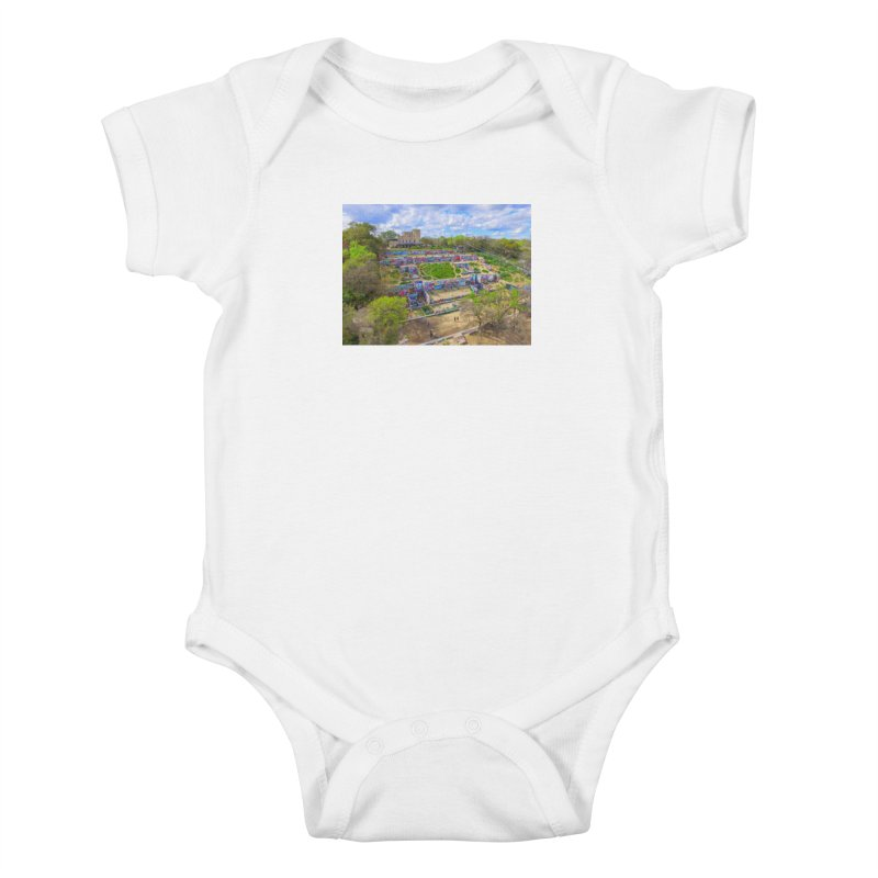 Hope Outdoor Gallery / Custom Merchandise / Aerial Photography Kids Baby Bodysuit by Holp Photography Artist Shop
