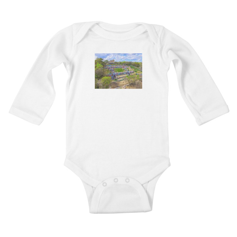 Hope Outdoor Gallery / Custom Merchandise / Aerial Photography Kids Baby Longsleeve Bodysuit by Holp Photography Artist Shop