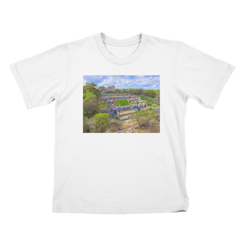 Hope Outdoor Gallery / Custom Merchandise / Aerial Photography Kids T-Shirt by Holp Photography Artist Shop