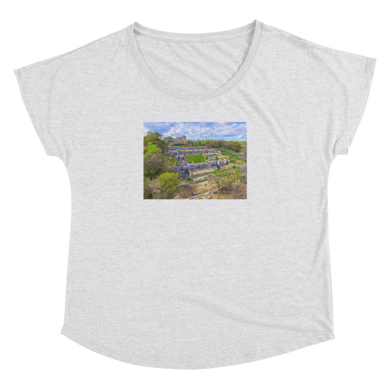 Hope Outdoor Gallery / Custom Merchandise / Aerial Photography Women's Dolman Scoop Neck by Holp Photography Artist Shop