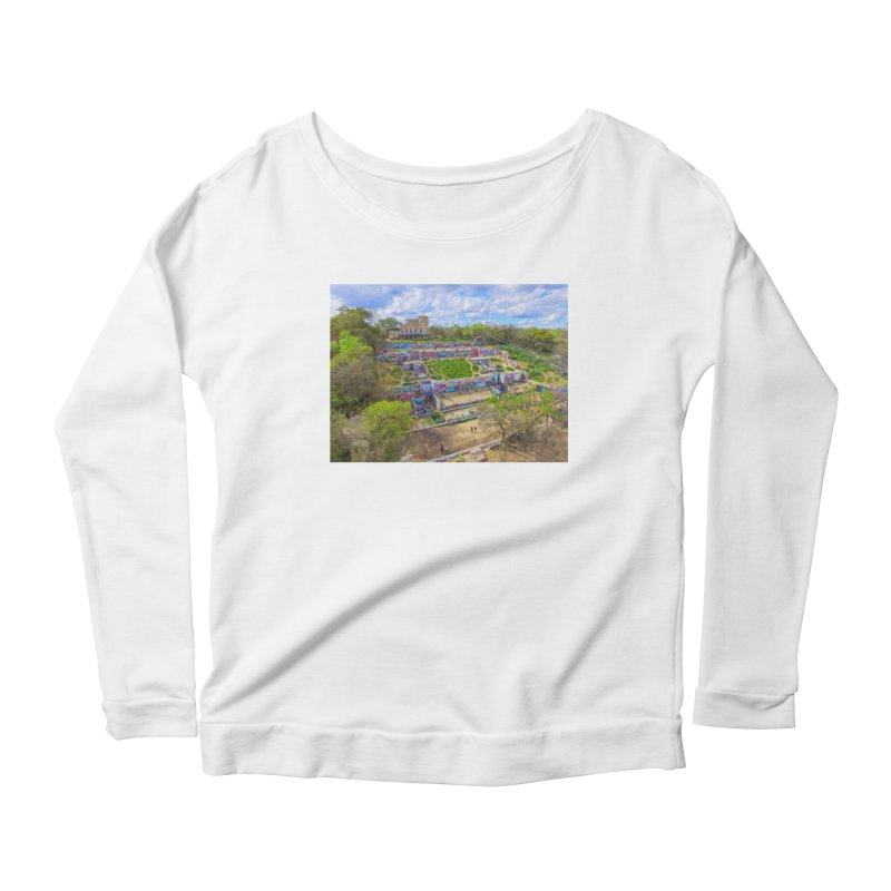 Hope Outdoor Gallery / Custom Merchandise / Aerial Photography Women's Scoop Neck Longsleeve T-Shirt by Holp Photography Artist Shop