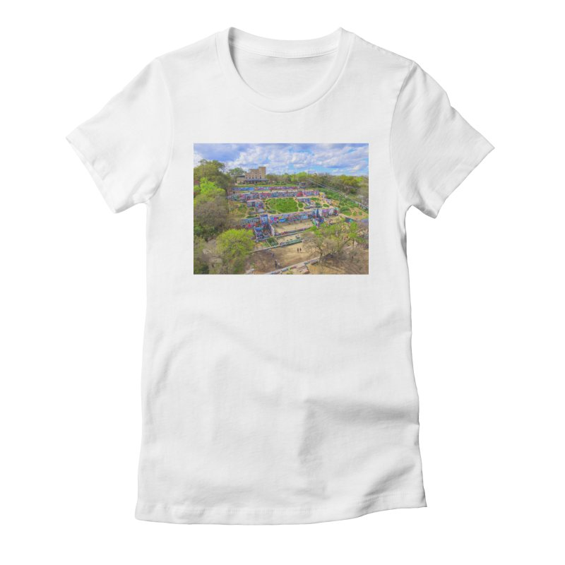 Hope Outdoor Gallery / Custom Merchandise / Aerial Photography Women's Fitted T-Shirt by Holp Photography Artist Shop