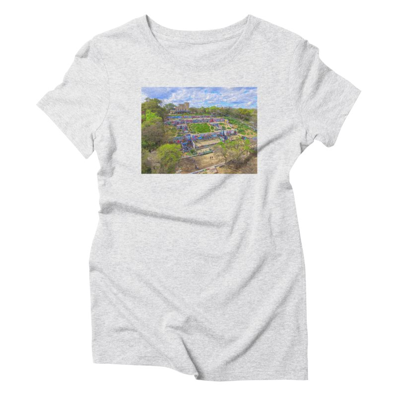 Hope Outdoor Gallery / Custom Merchandise / Aerial Photography Women's Triblend T-Shirt by Holp Photography Artist Shop