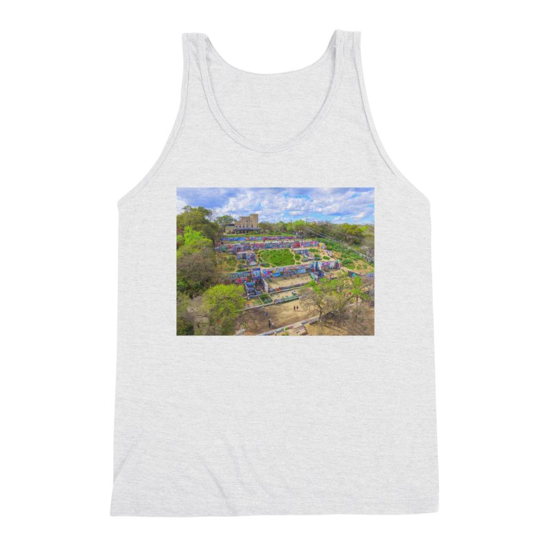 Hope Outdoor Gallery / Custom Merchandise / Aerial Photography Men's Triblend Tank by Holp Photography Artist Shop