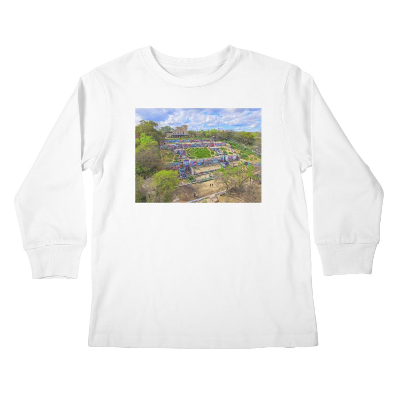 Hope Outdoor Gallery / Custom Merchandise / Aerial Photography Kids Longsleeve T-Shirt by Holp Photography Artist Shop