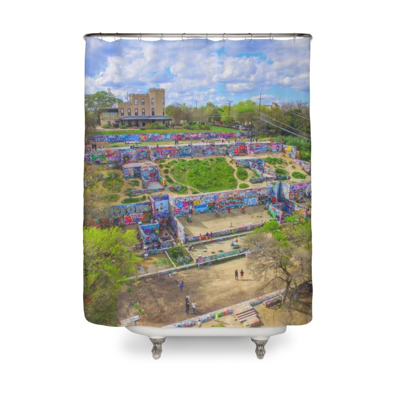 Hope Outdoor Gallery / Custom Merchandise / Aerial Photography Home Shower Curtain by Holp Photography Artist Shop