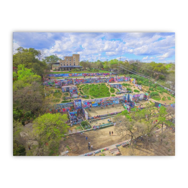 Hope Outdoor Gallery / Custom Merchandise / Aerial Photography Home Stretched Canvas by Holp Photography Artist Shop