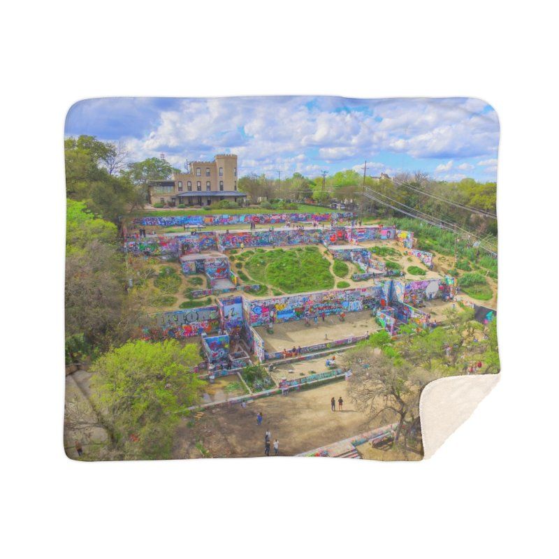Hope Outdoor Gallery / Custom Merchandise / Aerial Photography Home Sherpa Blanket Blanket by Holp Photography Artist Shop