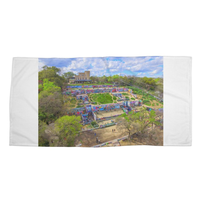 Hope Outdoor Gallery / Custom Merchandise / Aerial Photography Accessories Beach Towel by Holp Photography Artist Shop