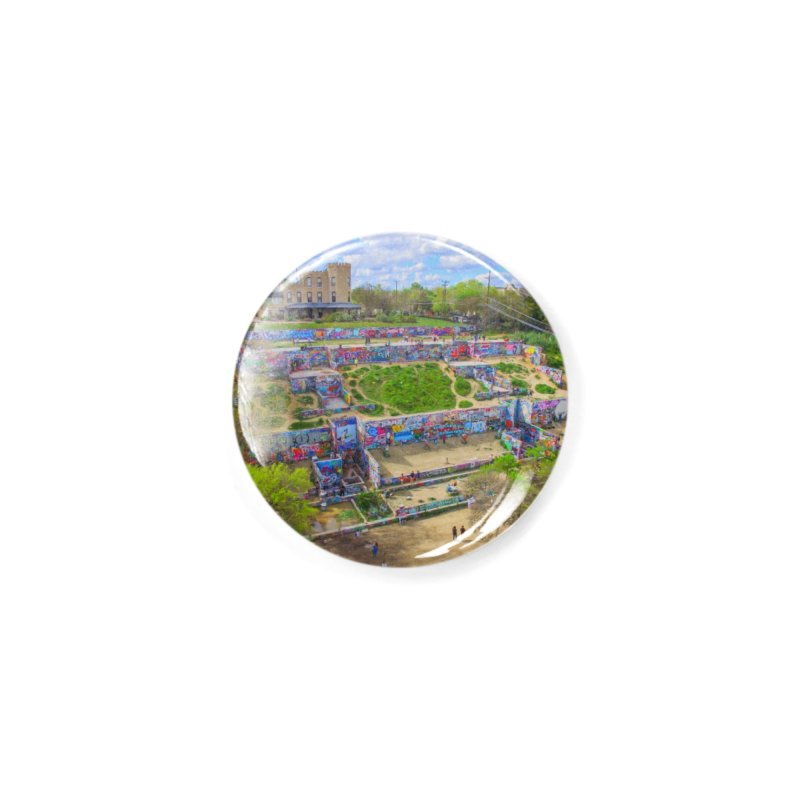 Hope Outdoor Gallery / Custom Merchandise / Aerial Photography Accessories Button by Holp Photography Artist Shop