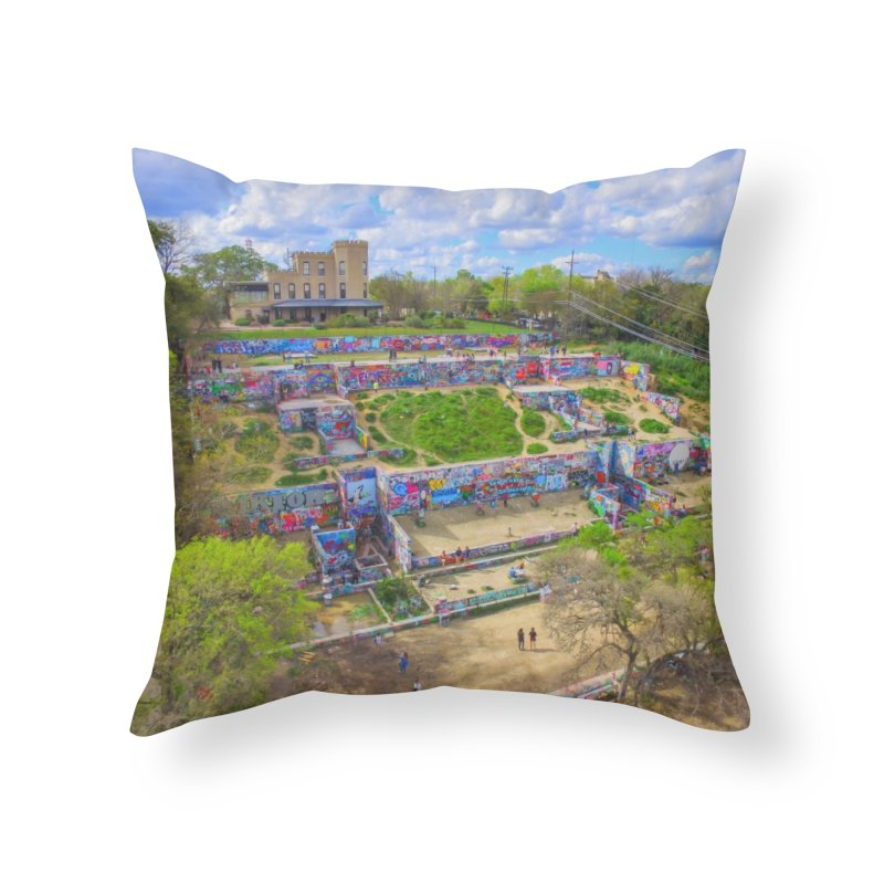 Hope Outdoor Gallery / Custom Merchandise / Aerial Photography Home Throw Pillow by Holp Photography Artist Shop