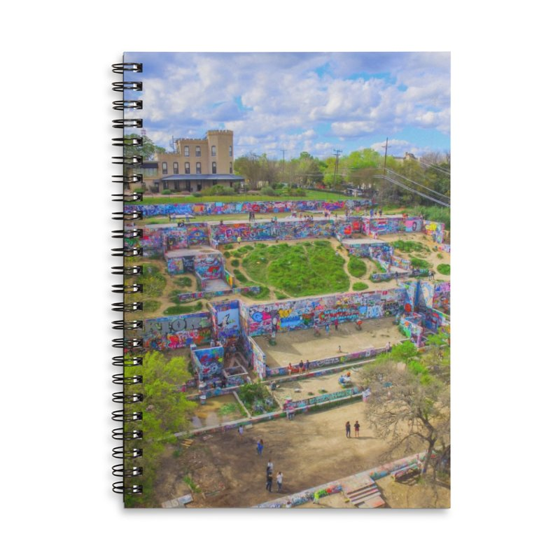 Hope Outdoor Gallery / Custom Merchandise / Aerial Photography Accessories Lined Spiral Notebook by Holp Photography Artist Shop