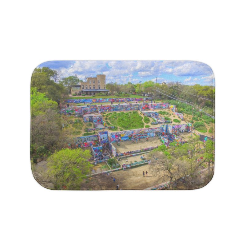 Hope Outdoor Gallery / Custom Merchandise / Aerial Photography Home Bath Mat by Holp Photography Artist Shop