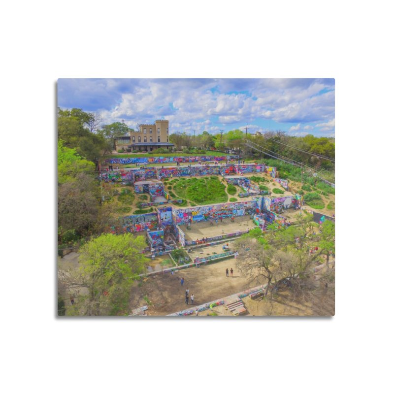 Hope Outdoor Gallery / Custom Merchandise / Aerial Photography Home Mounted Aluminum Print by Holp Photography Artist Shop