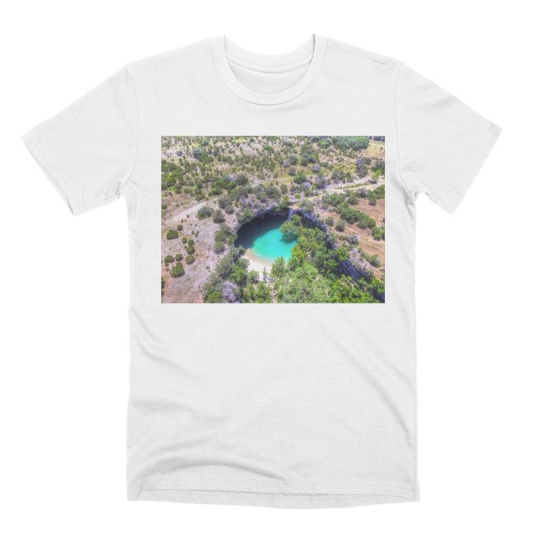 Hamilton Pool / Custom Merchandise / Aerial Photography Men's Premium T-Shirt by Holp Photography Artist Shop