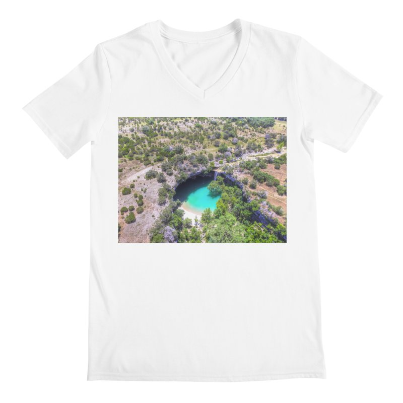 Hamilton Pool / Custom Merchandise / Aerial Photography Men's Regular V-Neck by Holp Photography Artist Shop