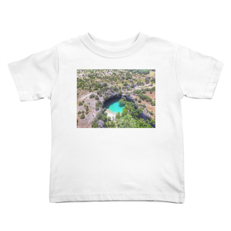Hamilton Pool / Custom Merchandise / Aerial Photography Kids Toddler T-Shirt by Holp Photography Artist Shop
