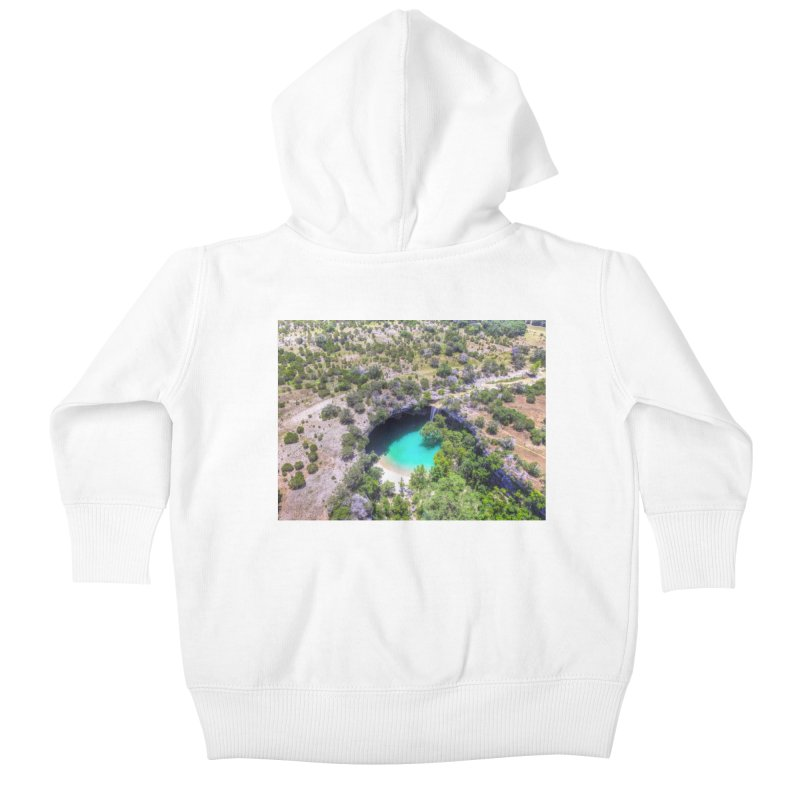 Hamilton Pool / Custom Merchandise / Aerial Photography Kids Baby Zip-Up Hoody by Holp Photography Artist Shop