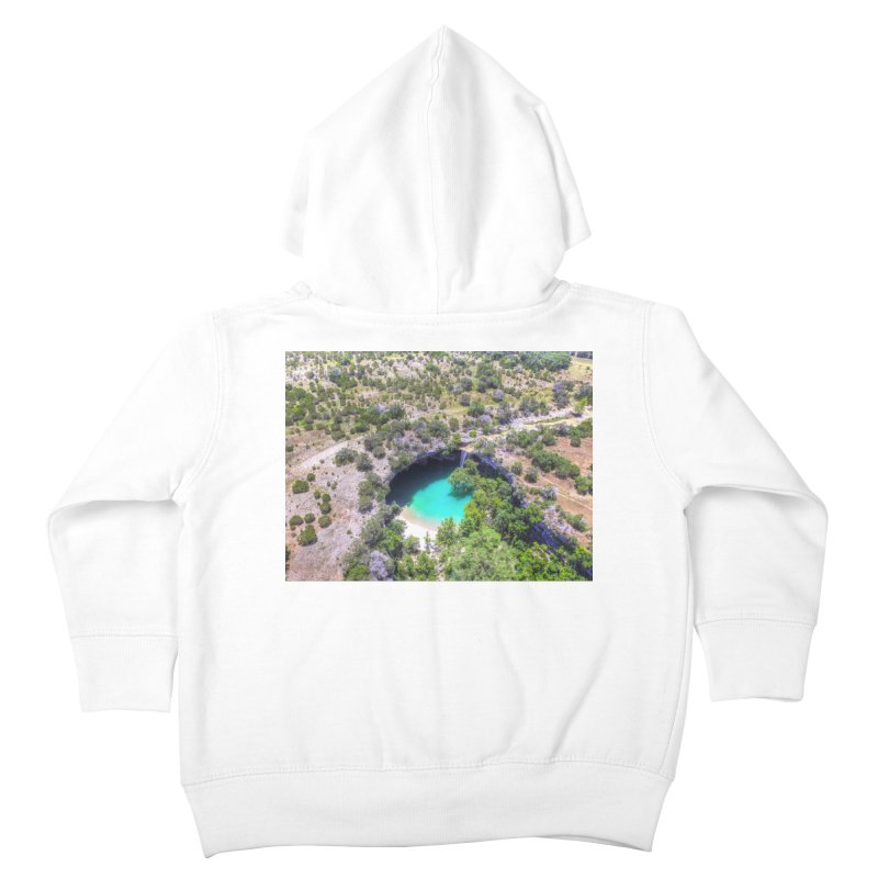 Hamilton Pool / Custom Merchandise / Aerial Photography Kids Toddler Zip-Up Hoody by Holp Photography Artist Shop