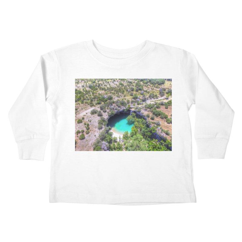 Hamilton Pool / Custom Merchandise / Aerial Photography Kids Toddler Longsleeve T-Shirt by Holp Photography Artist Shop