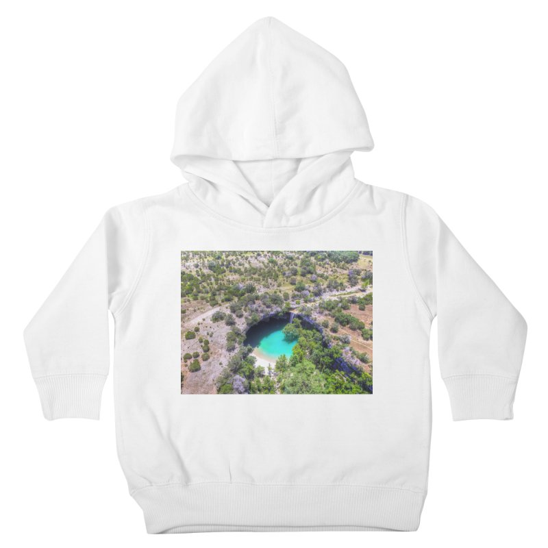 Hamilton Pool / Custom Merchandise / Aerial Photography Kids Toddler Pullover Hoody by Holp Photography Artist Shop