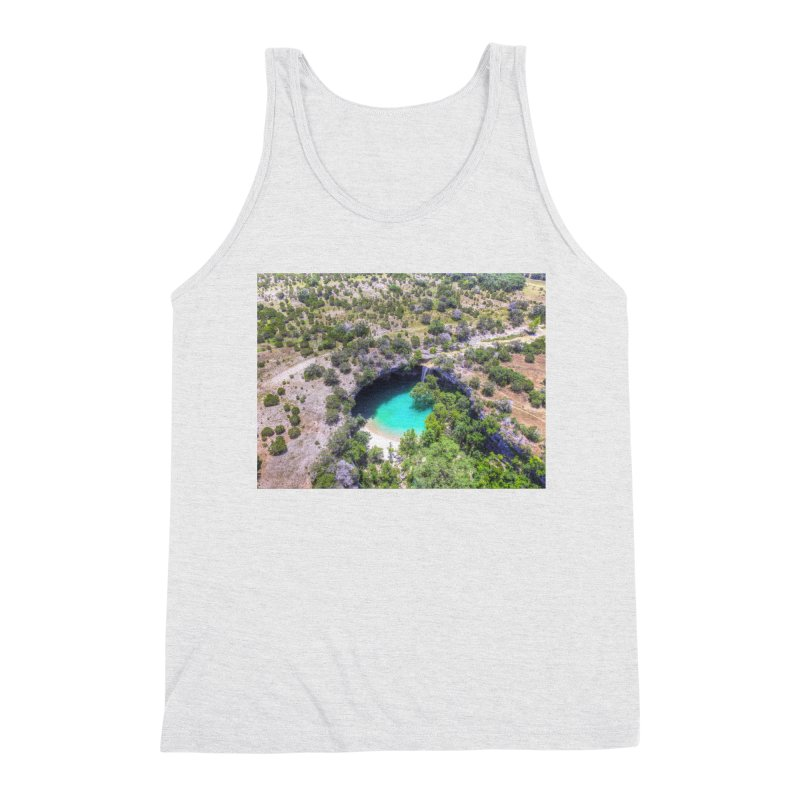 Hamilton Pool / Custom Merchandise / Aerial Photography Men's Triblend Tank by Holp Photography Artist Shop