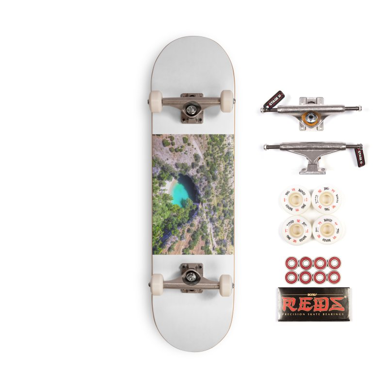Hamilton Pool / Custom Merchandise / Aerial Photography Accessories Complete - Pro Skateboard by Holp Photography Artist Shop