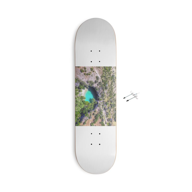 Hamilton Pool / Custom Merchandise / Aerial Photography Accessories With Hanging Hardware Skateboard by Holp Photography Artist Shop