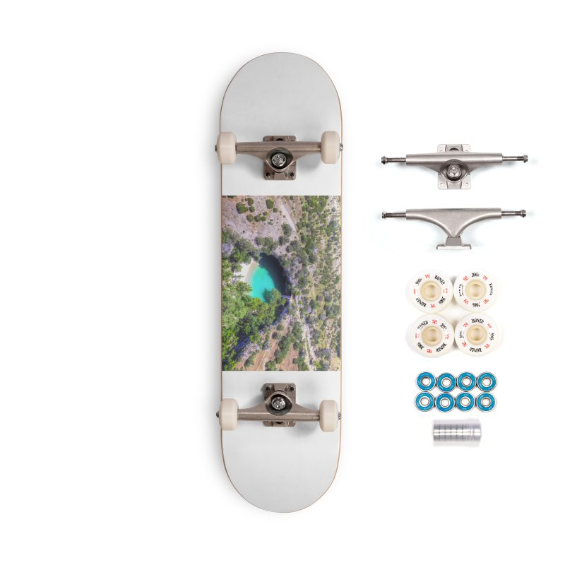 Hamilton Pool / Custom Merchandise / Aerial Photography Accessories Complete - Premium Skateboard by Holp Photography Artist Shop