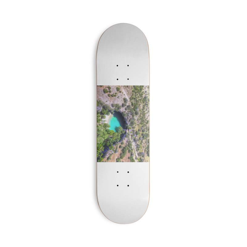 Hamilton Pool / Custom Merchandise / Aerial Photography Accessories Deck Only Skateboard by Holp Photography Artist Shop