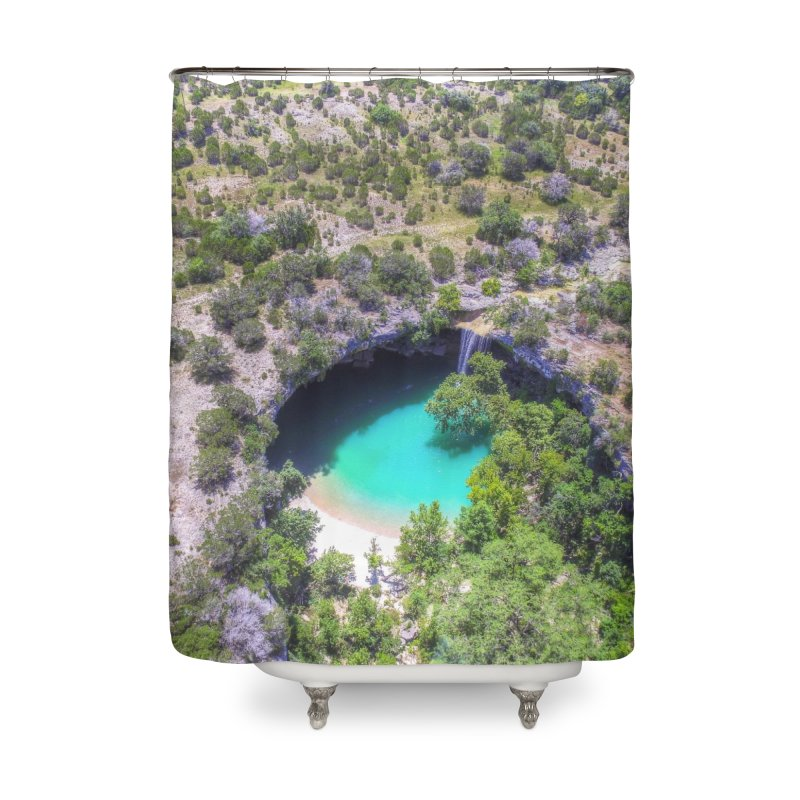 Hamilton Pool / Custom Merchandise / Aerial Photography Home Shower Curtain by Holp Photography Artist Shop