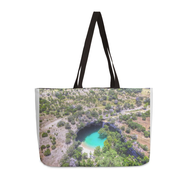 Hamilton Pool / Custom Merchandise / Aerial Photography Accessories Weekender Bag Bag by Holp Photography Artist Shop