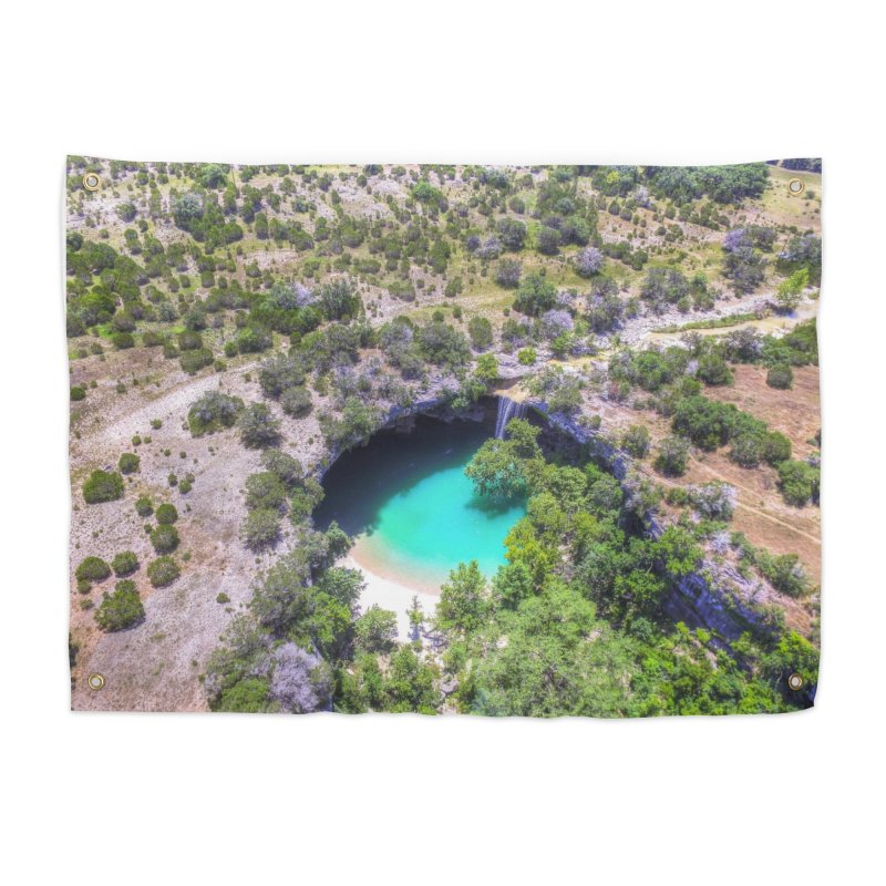 Hamilton Pool / Custom Merchandise / Aerial Photography Home Tapestry by Holp Photography Artist Shop