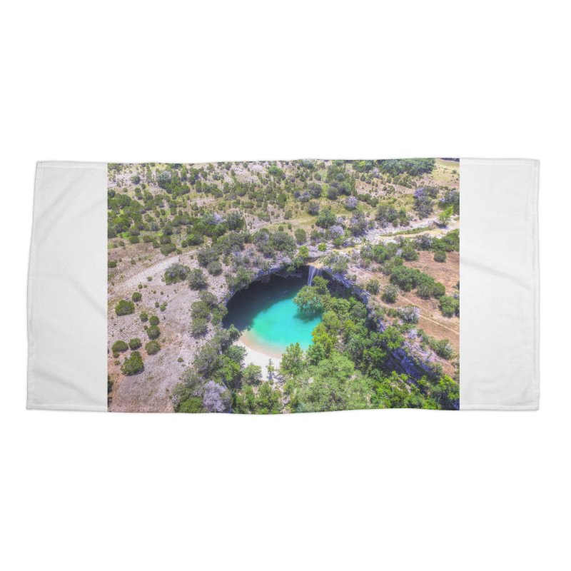 Hamilton Pool / Custom Merchandise / Aerial Photography Accessories Beach Towel by Holp Photography Artist Shop