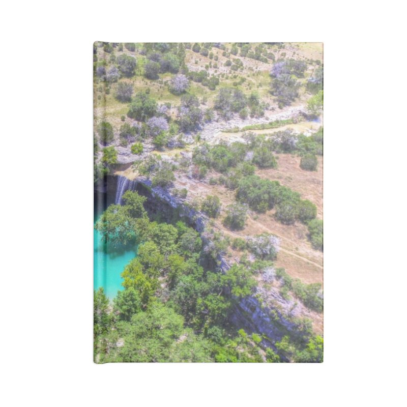 Hamilton Pool / Custom Merchandise / Aerial Photography Accessories Lined Journal Notebook by Holp Photography Artist Shop