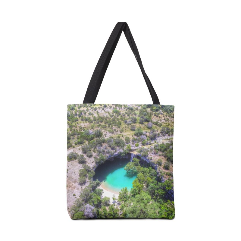 Hamilton Pool / Custom Merchandise / Aerial Photography Accessories Tote Bag Bag by Holp Photography Artist Shop