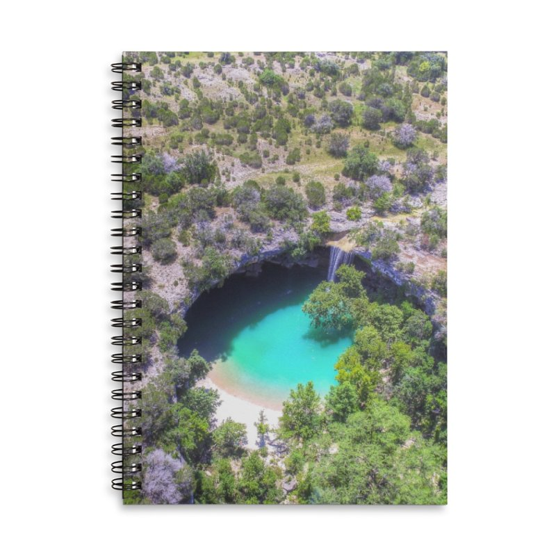 Hamilton Pool / Custom Merchandise / Aerial Photography Accessories Lined Spiral Notebook by Holp Photography Artist Shop