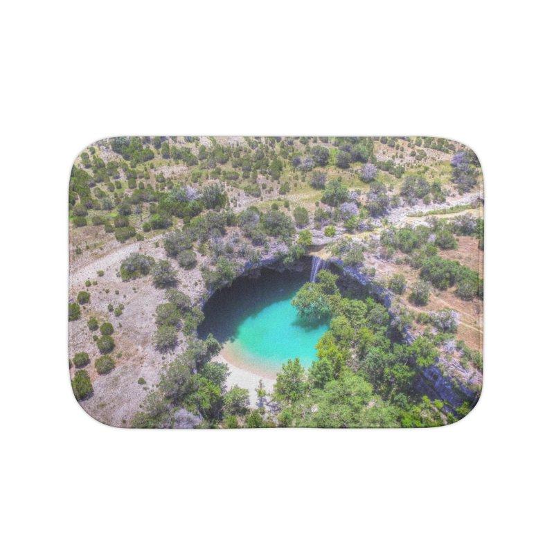 Hamilton Pool / Custom Merchandise / Aerial Photography Home Bath Mat by Holp Photography Artist Shop