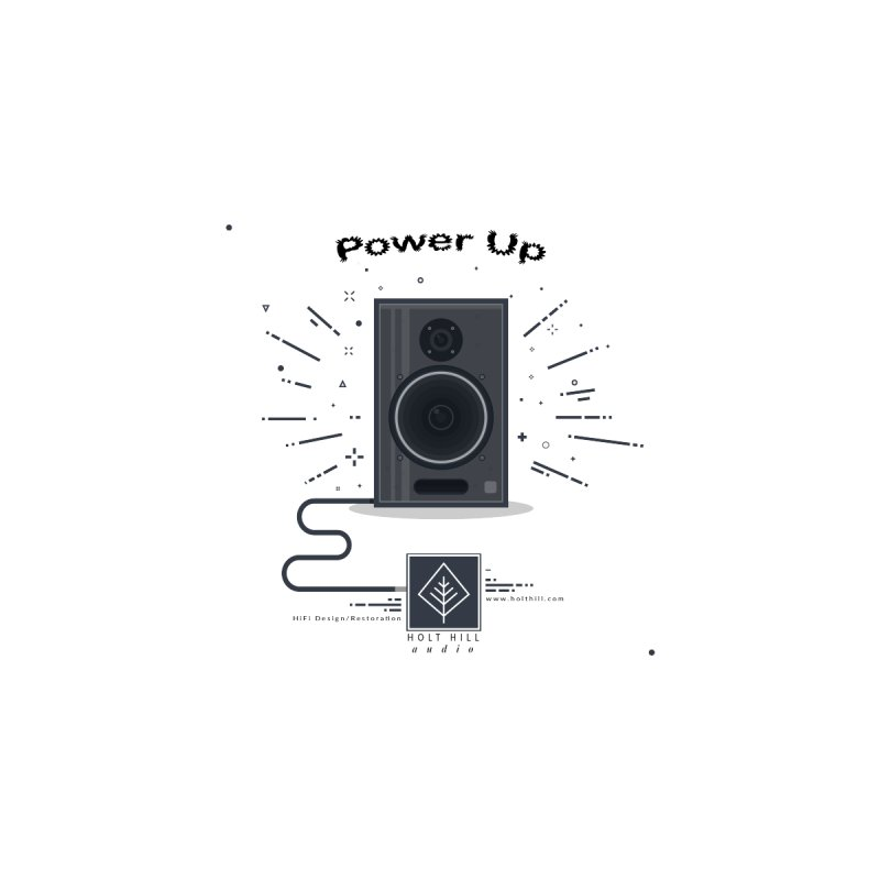 HHA Power Up Logo Accessories Sticker by Holt Hill Audio, LLC - Elevating Your Sound