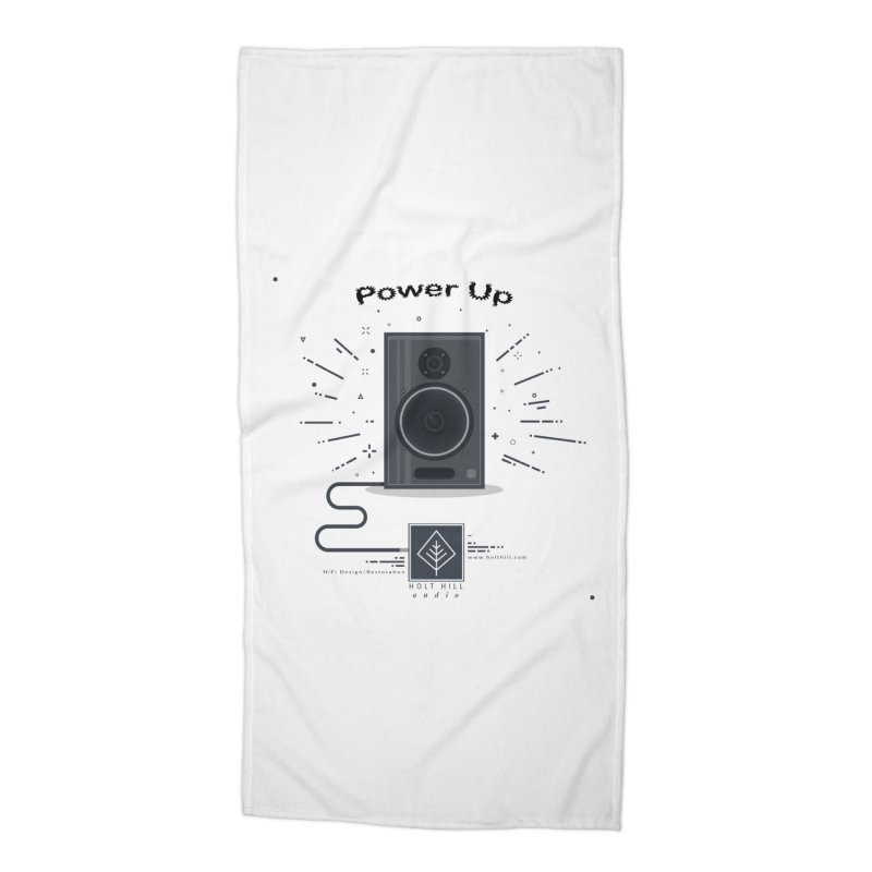 HHA Power Up Logo Accessories Beach Towel by Holt Hill Audio, LLC - Elevating Your Sound