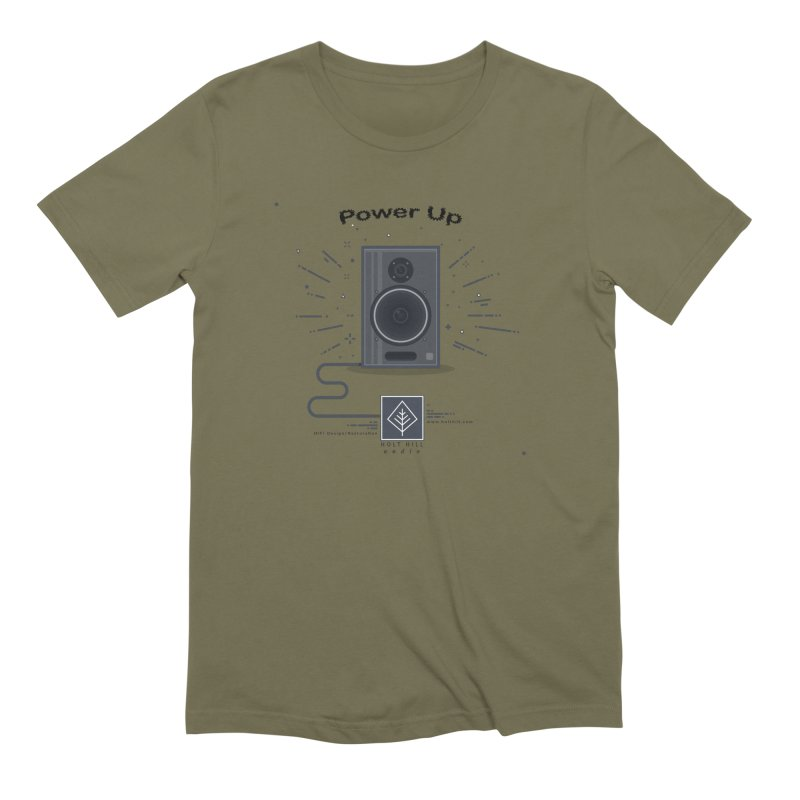 HHA Power Up Logo Men's T-Shirt by Holt Hill Audio, LLC - Elevating Your Sound