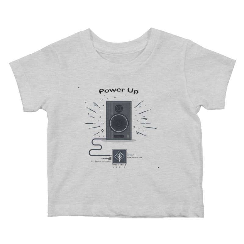 HHA Power Up Logo Kids Baby T-Shirt by Holt Hill Audio, LLC - Elevating Your Sound