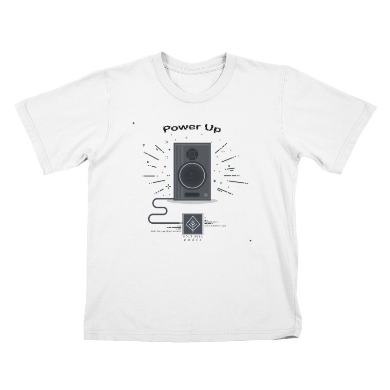 HHA Power Up Logo Kids T-Shirt by Holt Hill Audio, LLC - Elevating Your Sound