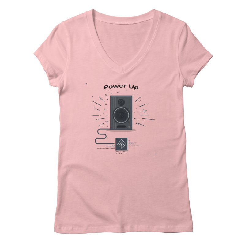 HHA Power Up Logo Women's V-Neck by Holt Hill Audio, LLC - Elevating Your Sound