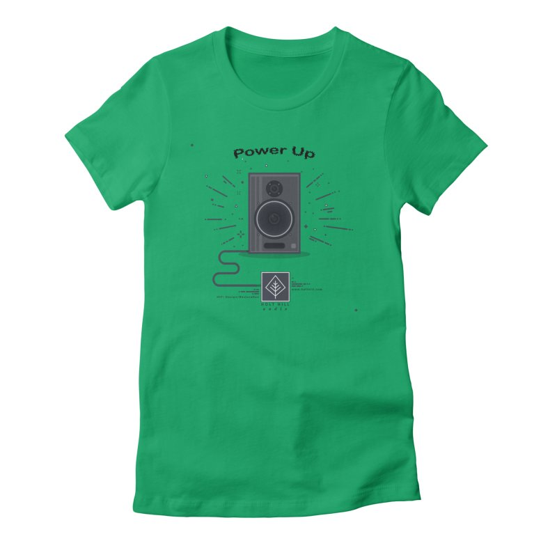 HHA Power Up Logo Women's T-Shirt by Holt Hill Audio, LLC - Elevating Your Sound