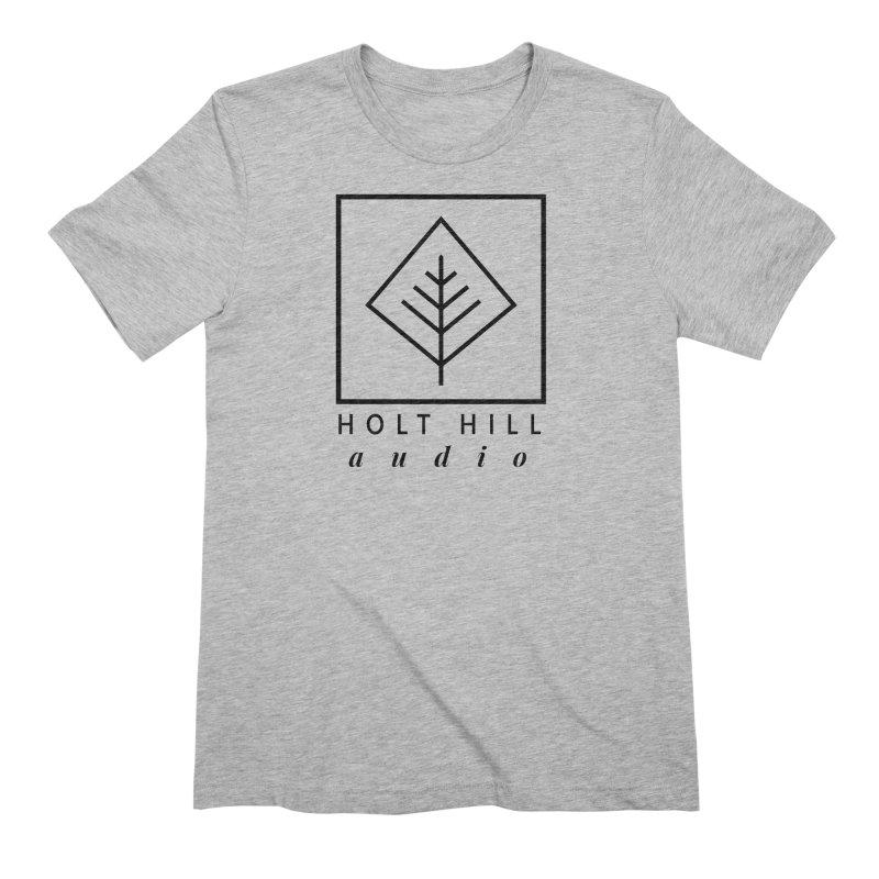 HHA Basic Logo Black Men's T-Shirt by Holt Hill Audio, LLC - Elevating Your Sound