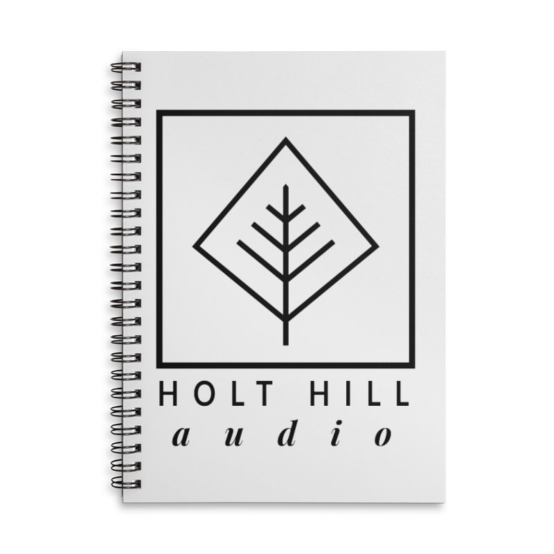 HHA Basic Logo Black Accessories Notebook by Holt Hill Audio, LLC - Elevating Your Sound