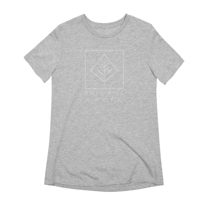 HHA Basic Logo White Women's T-Shirt by Holt Hill Audio, LLC - Elevating Your Sound