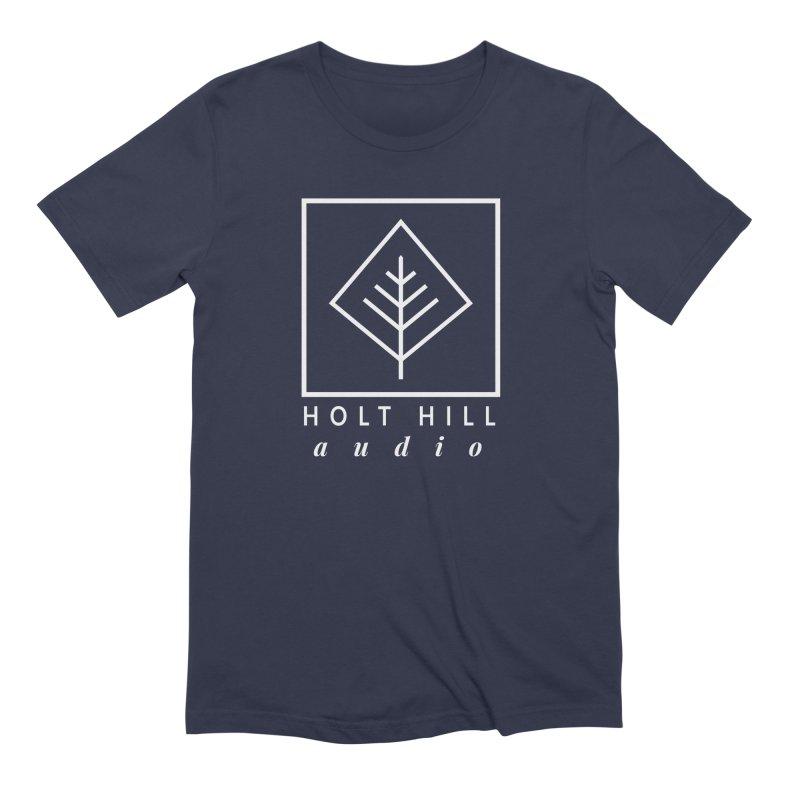HHA Basic Logo White Men's T-Shirt by Holt Hill Audio, LLC - Elevating Your Sound