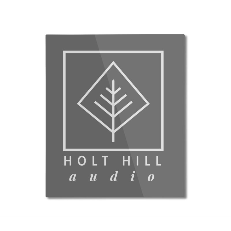 HHA Basic Logo White Home Mounted Aluminum Print by Holt Hill Audio, LLC - Elevating Your Sound